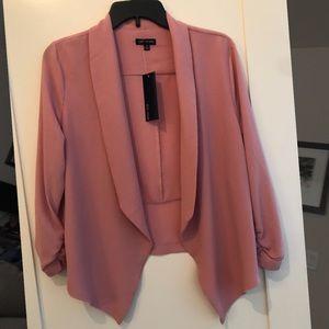 Dark pink blazer